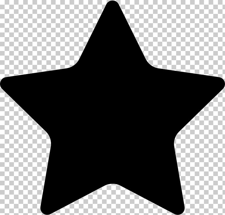 Silhouette Star , black star PNG clipart.