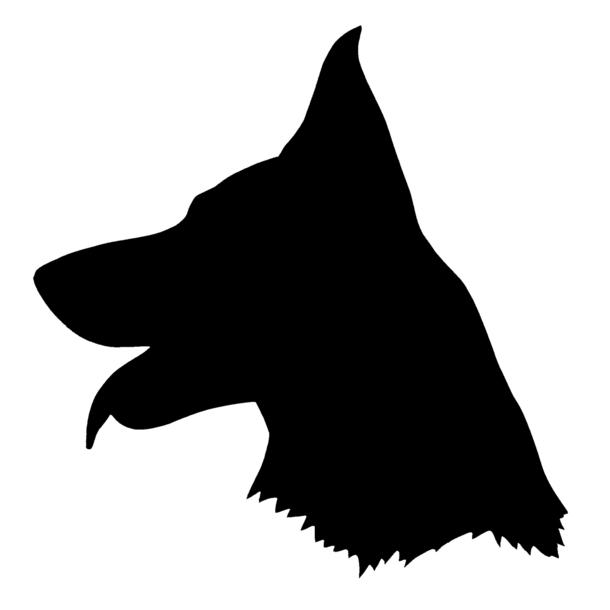 german shepherd silhouette.