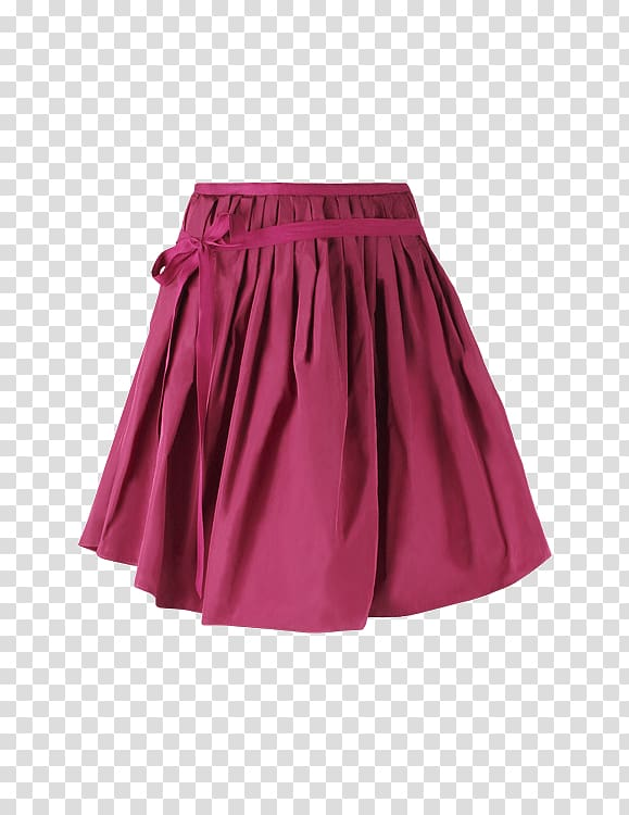 Pink skater skirt, Skirt Pink Ribbon transparent background.