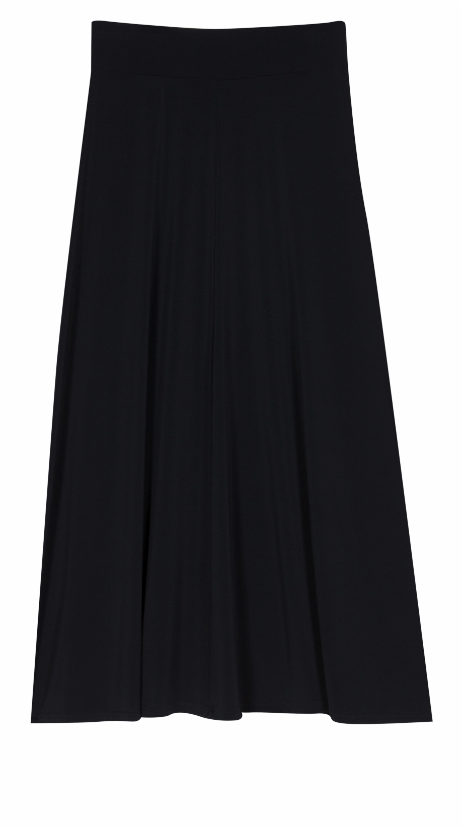 Black Long Skirt Trousers.