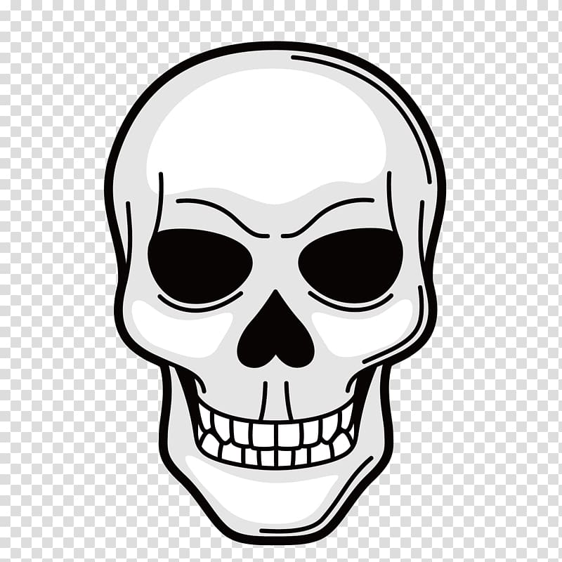 Symbol Tattoo Illustration, Black Skull transparent.