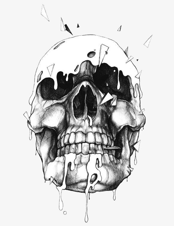 Black Skull, Skull Clipart, Black Terror, Skull PNG Transparent.
