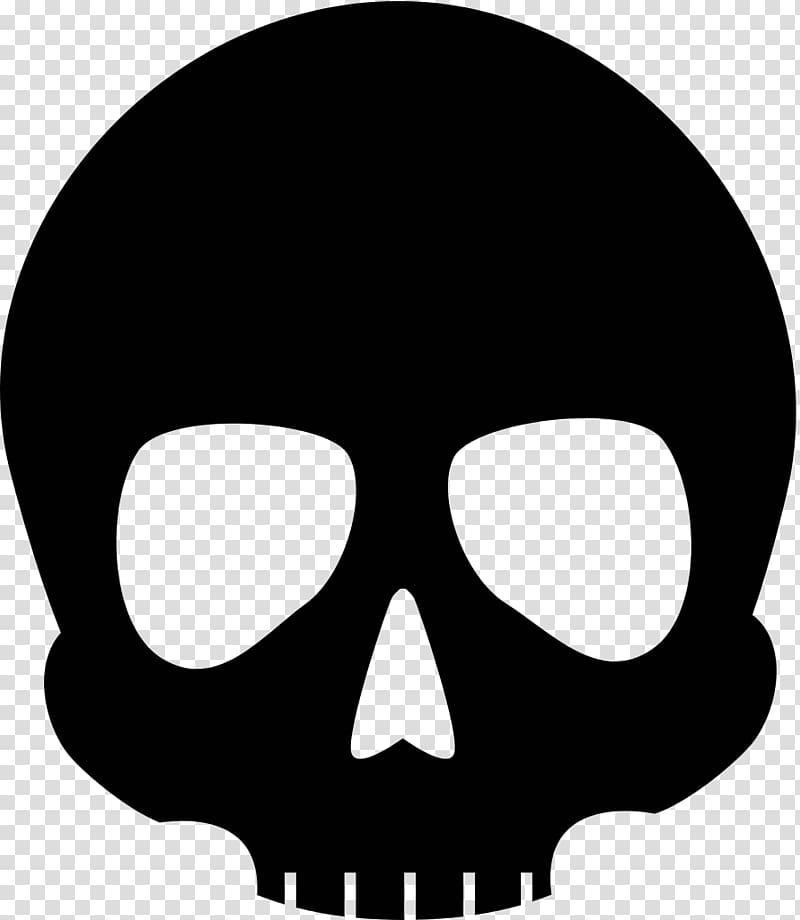 Black skull , Scalable Graphics Computer Icons Human skull symbolism.