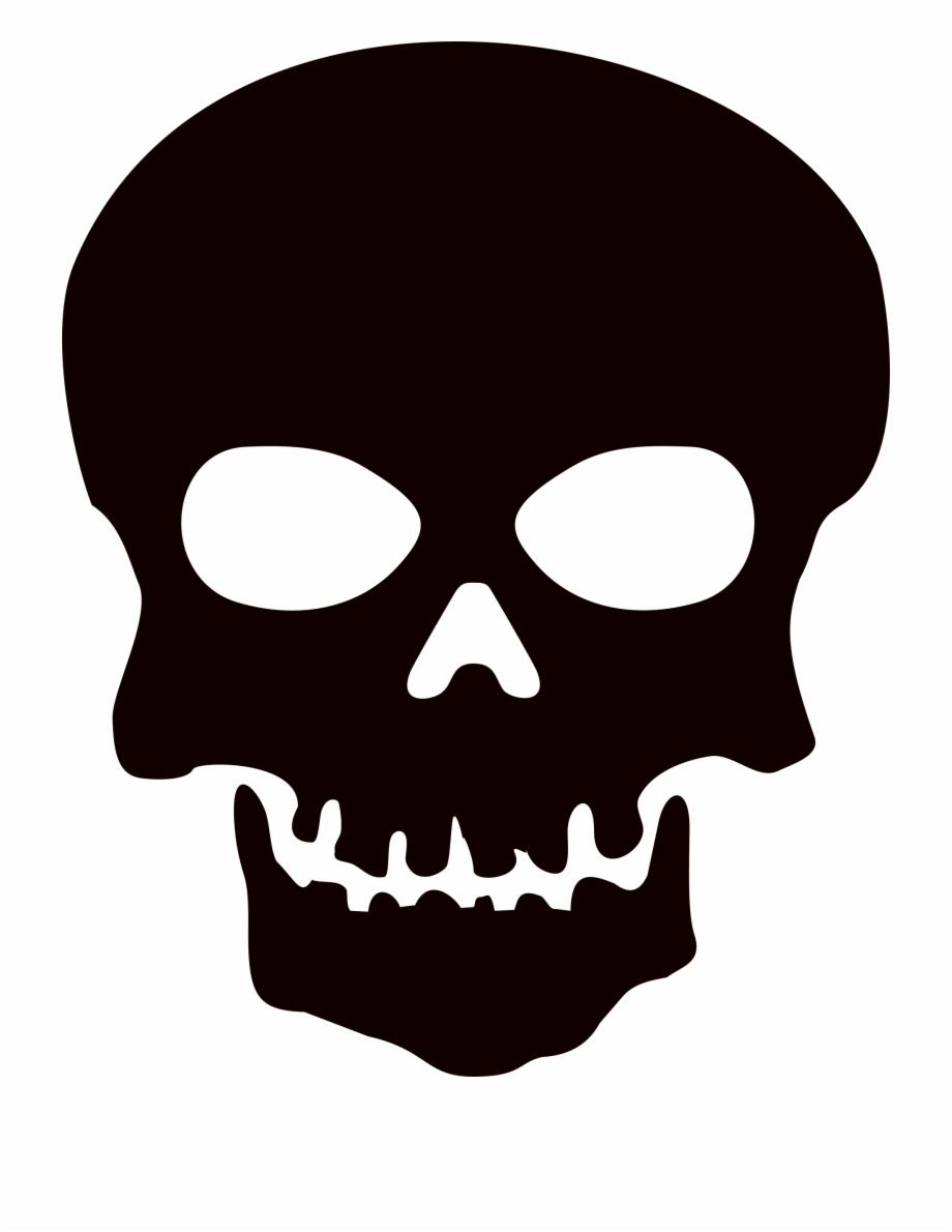 Black Skull Png Image With Transparent Background.