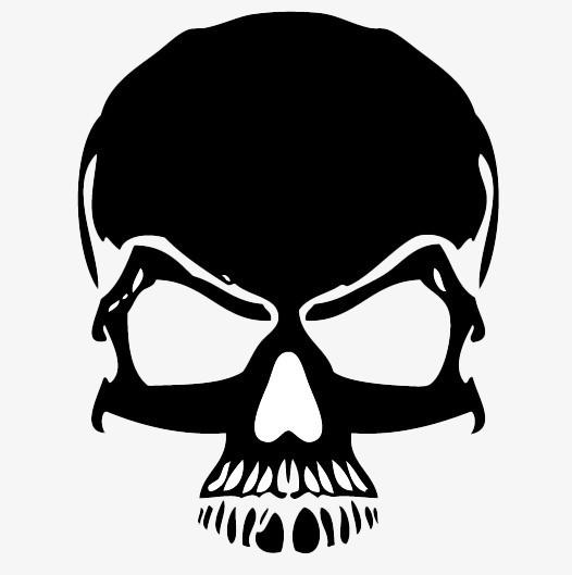 Black Skull PNG Image Background.