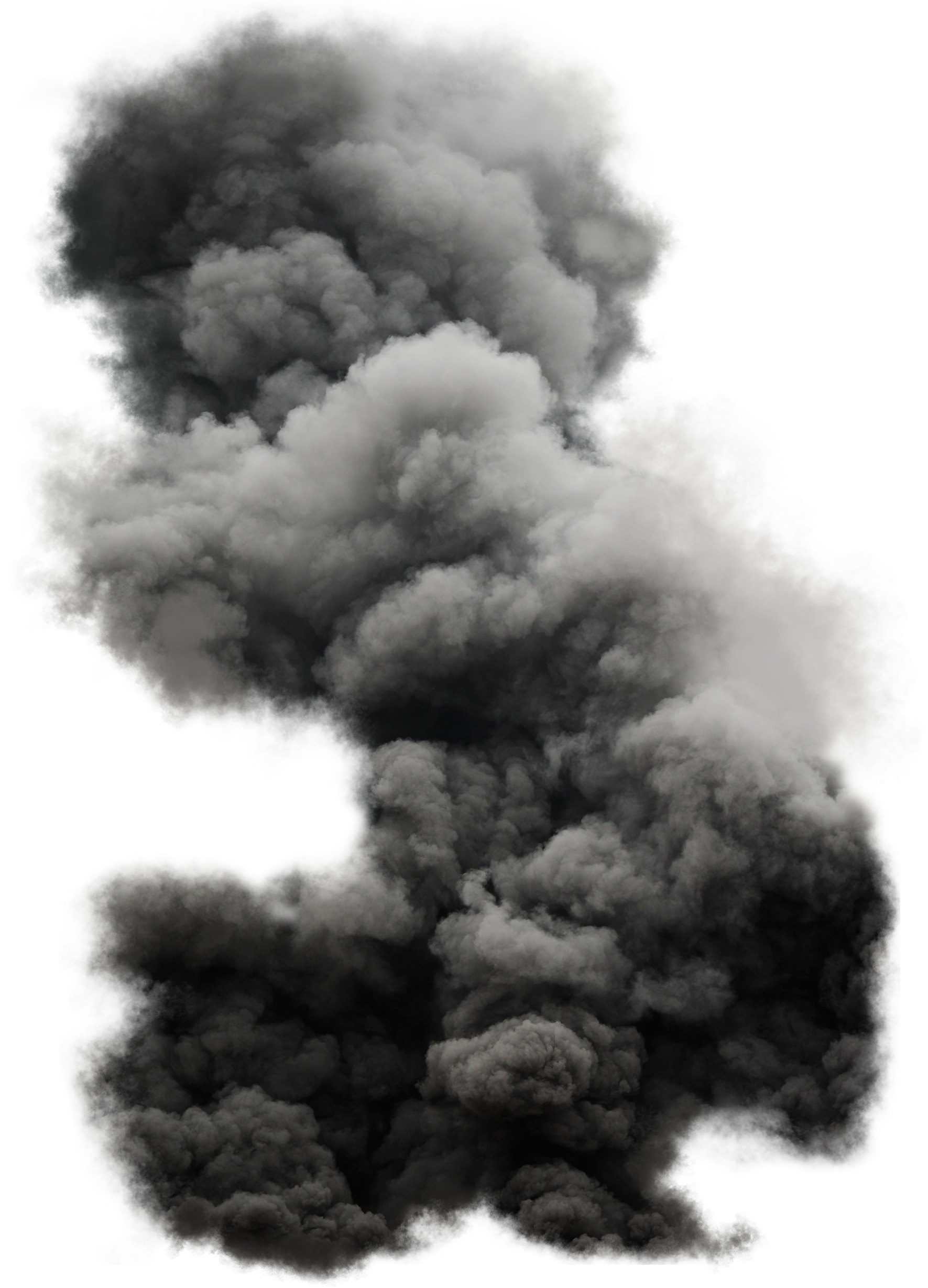 Black Cloud Smoke PNG Image.