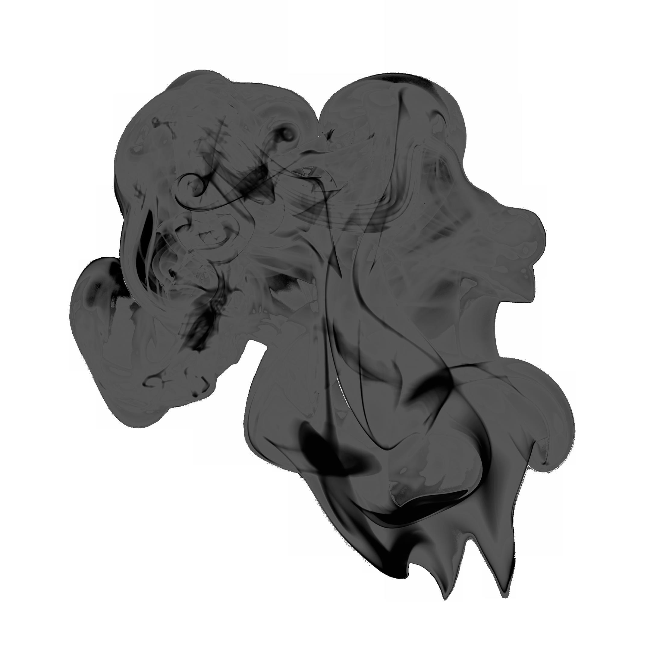 Black Smoke PNG Image.