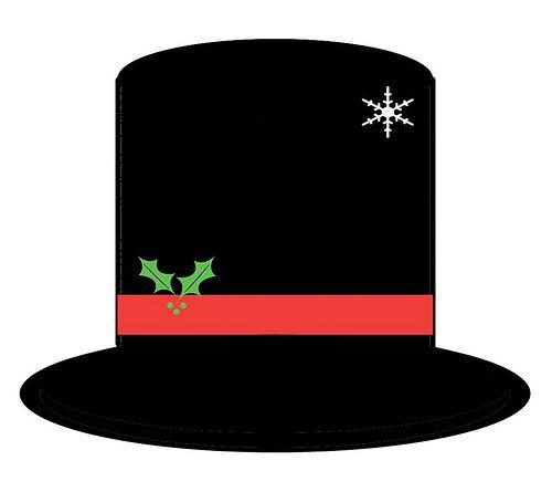 Printable Snowman Hat Pattern.