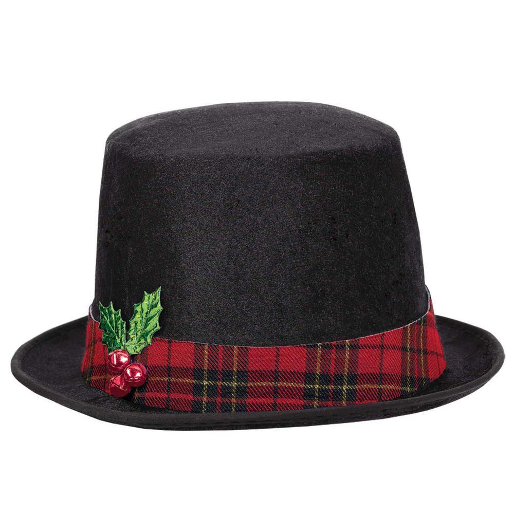 Amscan 9 in. x 8.5 in. Snowman Christmas Black Top Hat.