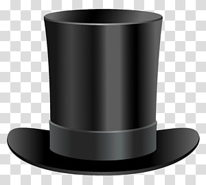 Magician hat , Top hat , Black Top Hat transparent background PNG.