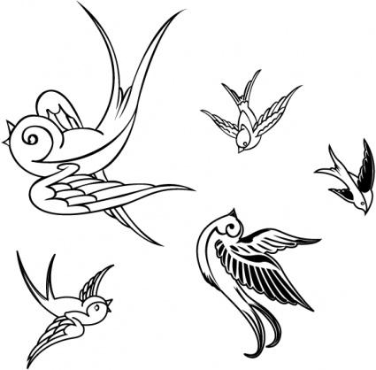 Sparrow Clip Art, Vector Sparrow.