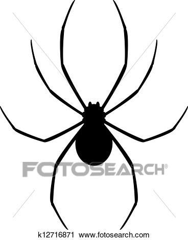 Black spider Clipart.