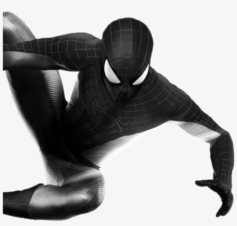 Download Spiderman Black And White Transparent Clipart.
