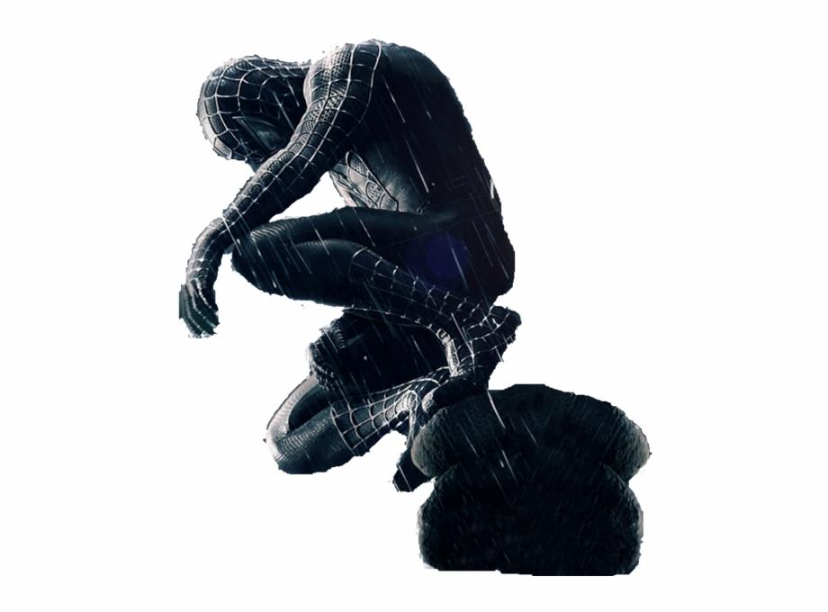 Spiderman Black Transparent Background.