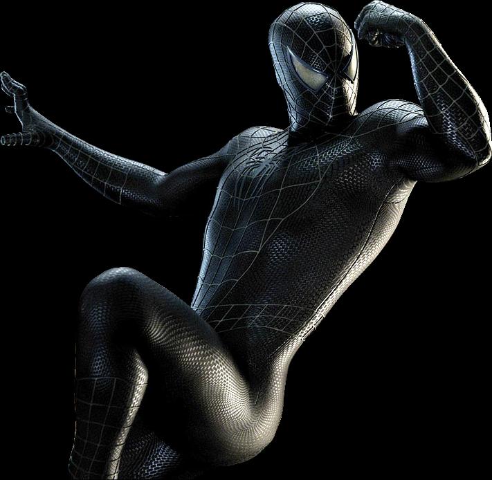 HD Render Black Spiderman.