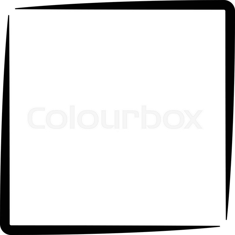 Square Clipart Black And White.