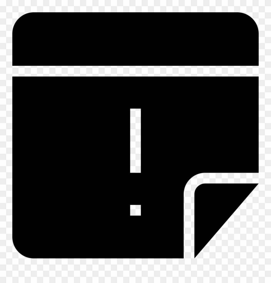 Note Of Importance Black Square Interface Symbol Comments Clipart.