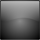 glossy button blank black square.