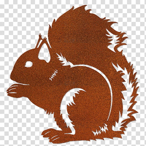 Squirrel Cartoon, Chipmunk, Drawing, Silhouette, Red.