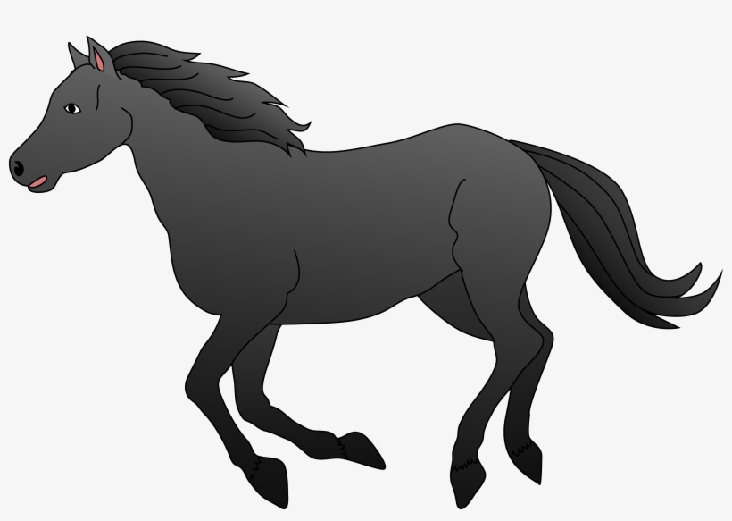 Stallion Clipart Black Horse.