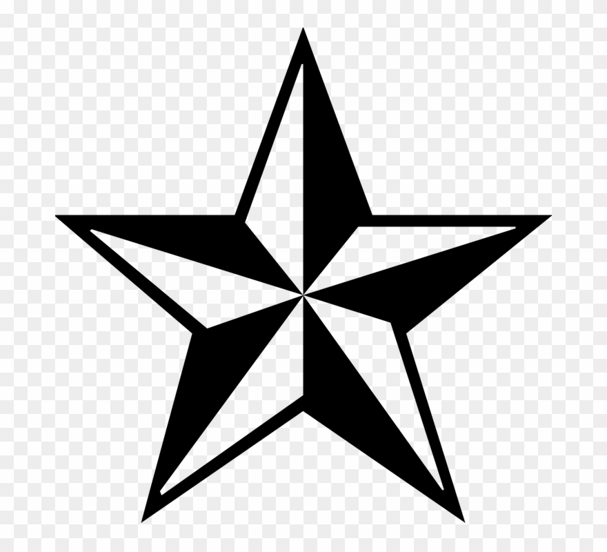 Christmas Star Png Black And White Free Star Png Icon.