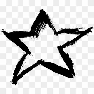 Black Star PNG Transparent For Free Download.