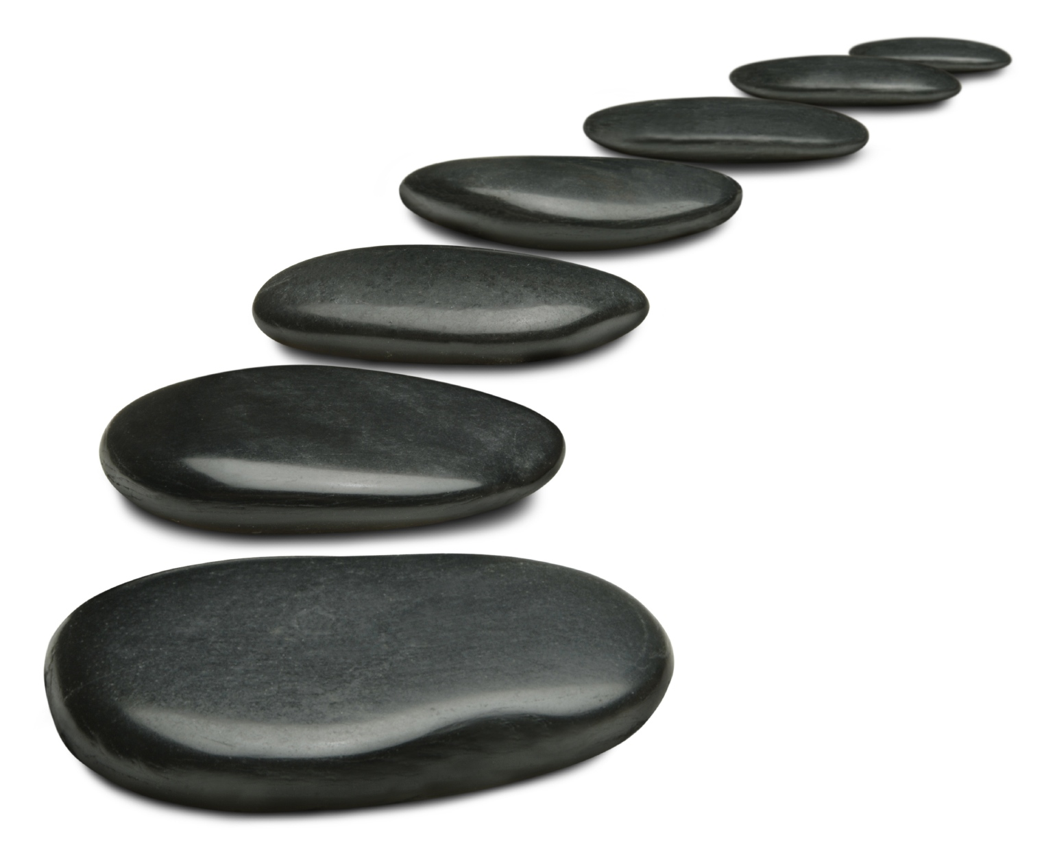 Stepping stones clipart.