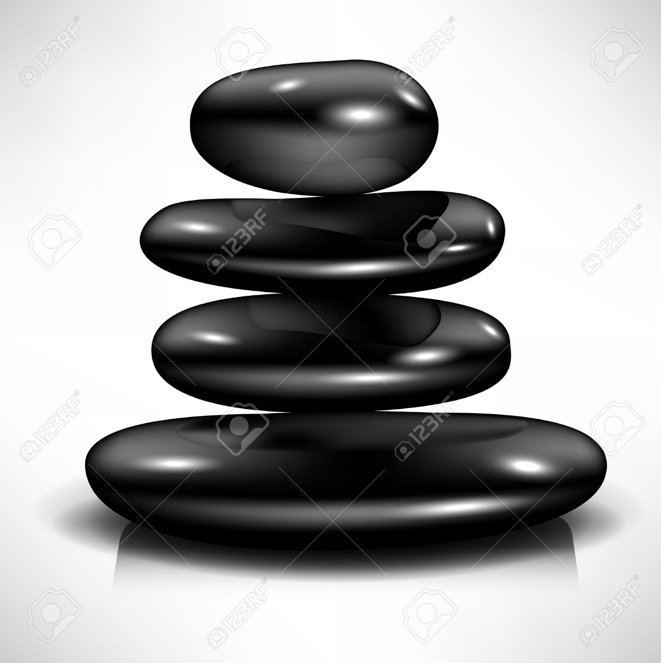 Massage stones clipart images.