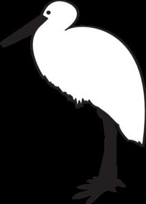 Stork clipart outline.
