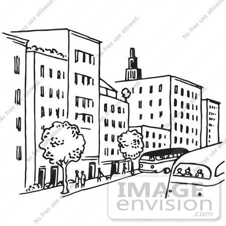 City Street Clipart.