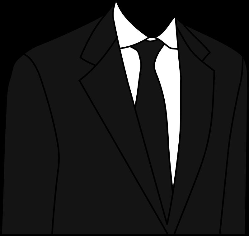 Free Clipart: Black suit.