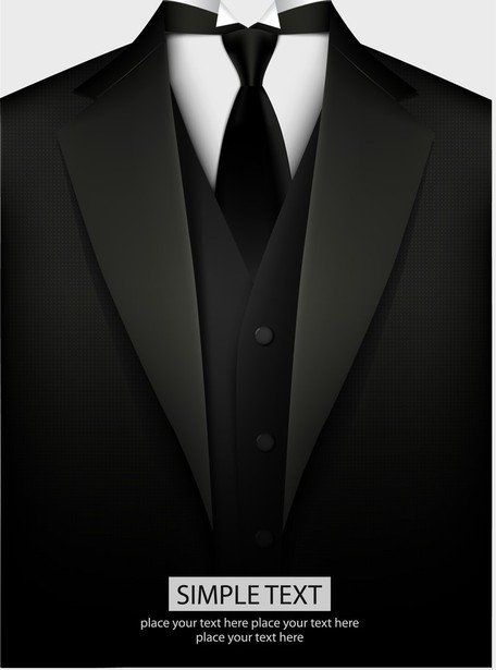 Free Black Suit Clipart and Vector Graphics.