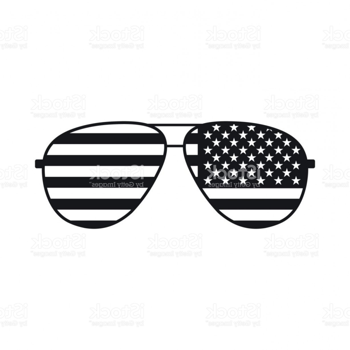 Black Sunglasses Clip Art Vector.