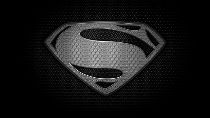 HD wallpaper: Superman logo, black, Man of steel, black.