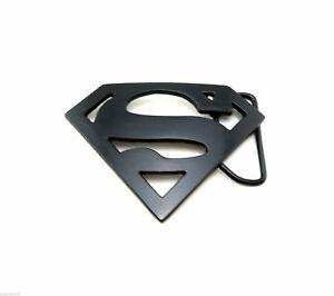 Details about Black Superman Logo Novelty Metal Belt Buckle.