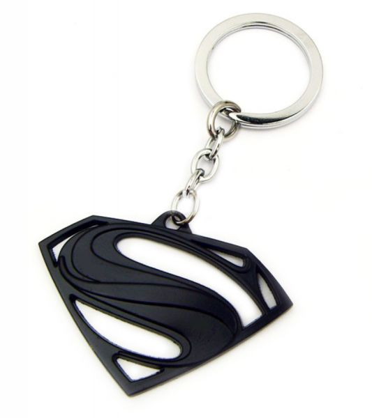 Black Superman Logo Key Chain.