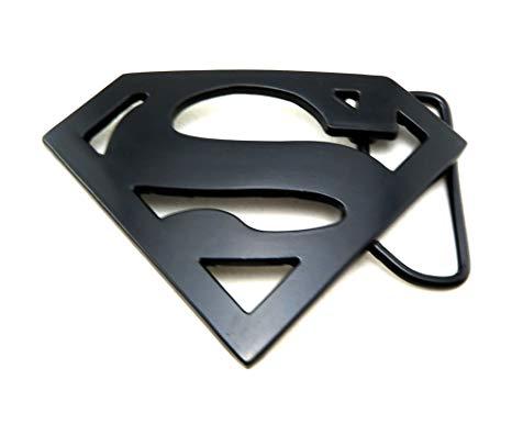 Amazon.com: Black Superman Logo Belt Buckle: Clothing.