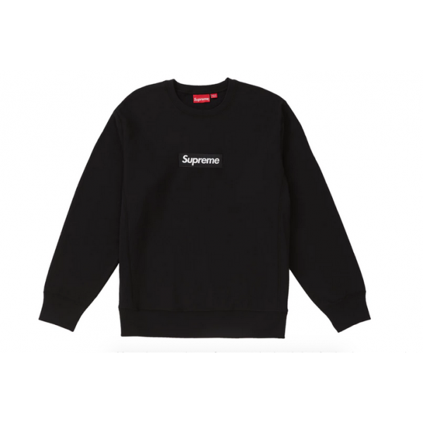 Supreme Box Logo Crewneck Sweater (Black).