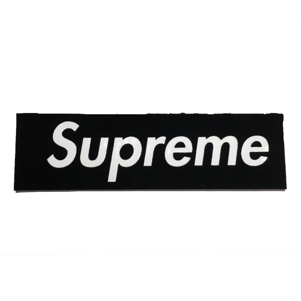 Supreme Black Felt Box Logo Sticker.