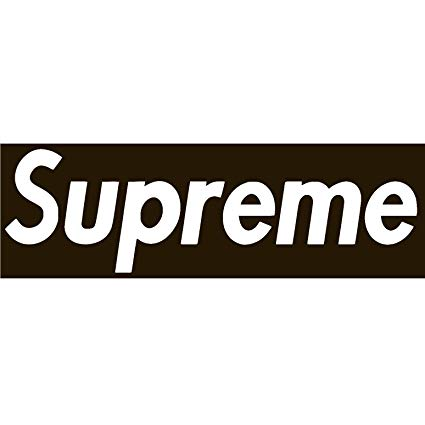 Supreme Vinyl Sticker Decal (3\