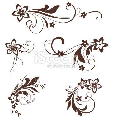 Single Swirl Line Black Designs Clipart.