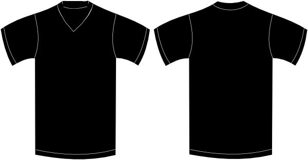 V Neck Black Tshirt Clip Art at Clker.com.