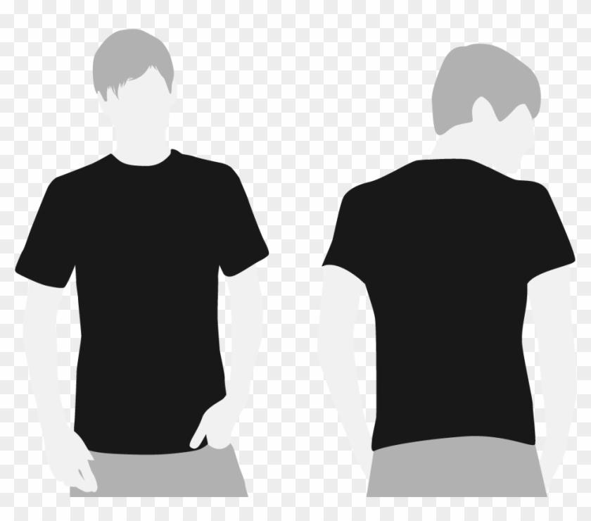 Black Tshirt Template.
