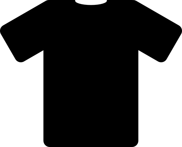 Black T Shirt clip art Free vector in Open office drawing.