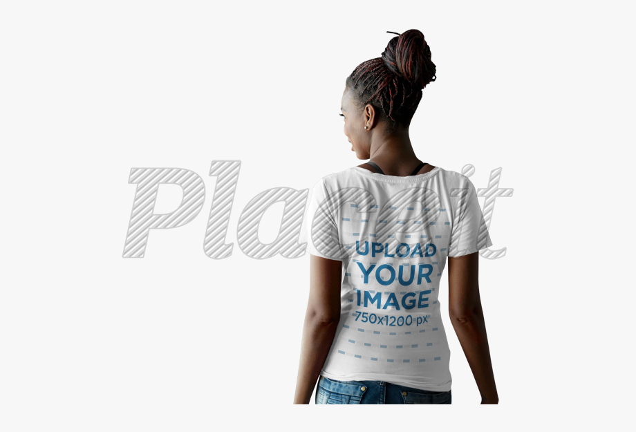 T Shirt Mockup Black Female , Transparent Cartoon, Free.
