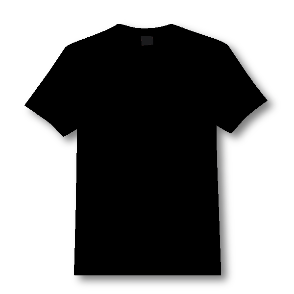 Black T Shirt Png Front And Back.