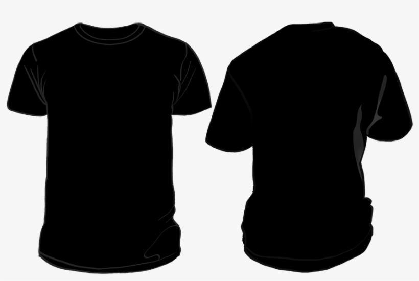 Black T Shirt Template Png.