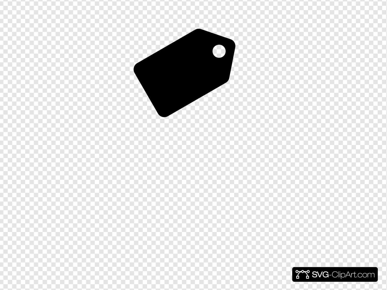 Black Tag Label Clip art, Icon and SVG.