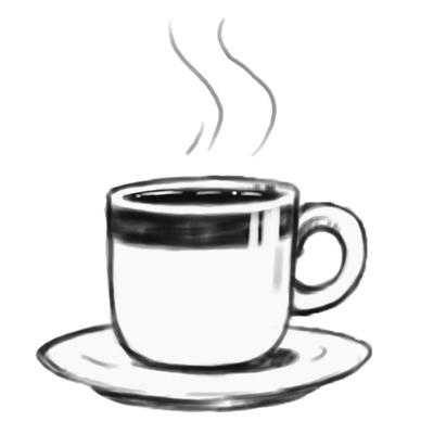 Black Tea Cup Clipart.