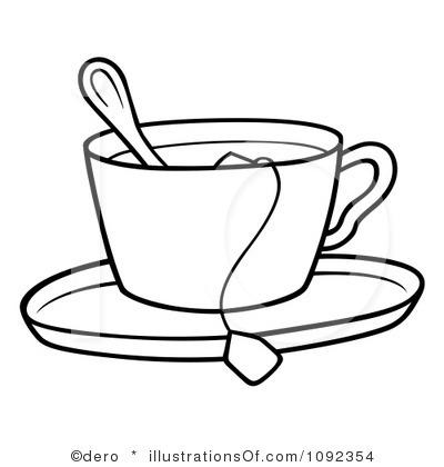 Black Tea Cup Clipart.